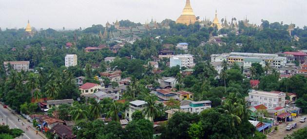 Vista de Yangón, la principal ciudad de Myanmar, donde las manifestaciones contra el golpe de Estado continúan pese a que la represión de las fuerzas de seguridad causó 18 muertes y al menos 30 heridos en una sola jornada. Foto: Nyi Teza/ONU