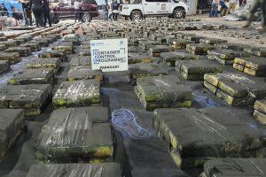 La Oficina de las Naciones Unidas contra la Droga y el Delito registró como gran éxito la incautación el año pasado de 2,3 toneladas de cocaína en Paraguay, un cargamento con destino a Israel y otros países de Medio Oriente, tras pasar por puertos de Argentina y Bélgica. Foto: ONUDD