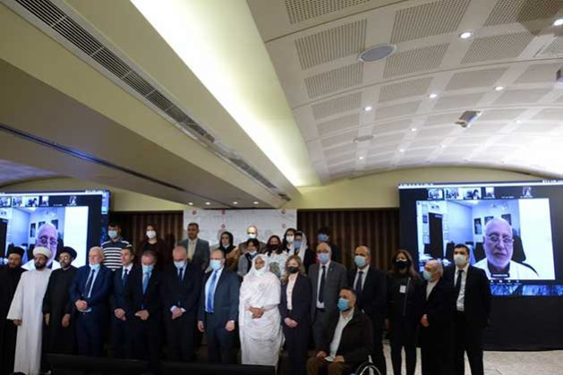 Delegados de la conferencia celebrada virtualmente en Beirut, en la que se debatió sobre el impacto de la covid con respecto a los compromisos de la CIPD25 en los países árabes y asiáticos. Crédito: Cortesía de la Asociación Asiática de Población y Desarrollo (APDA).