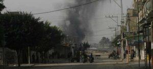 El humo de un ataque aéreo de Israel se eleva sobre la ciudad de Rafah, en el sur de la Franja de Gaza. Foto: Eyad El Baba / Unicef