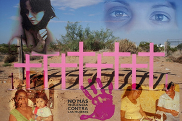 Collage de víctimas y deudos de feminicidios en Ciudad Juárez, en México. Foto: IPS