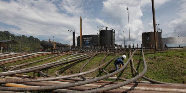 Un proyecto petrolero en el parque nacional Yasuní en la Amazonia ecuatoriana. Foto: Alamy