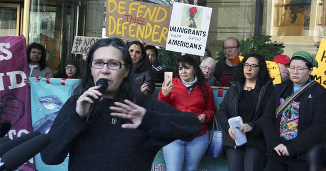 La reconocida activista a favor de los migrantes en Estados Unidos, Maru Mora, ella misma una migrante indocumentada. Foto: Resistence