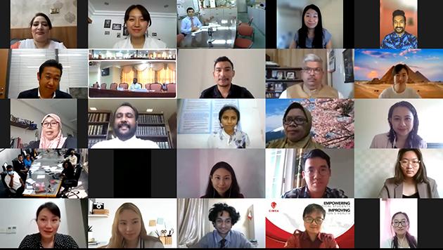 Algunos de los delegados en el virtual Diálogo intergeneracional de parlamentarios y activistas  de la juventud de Asia sobre la necesidad de aumentar y mejorar la participación de los jóvenes en la toma de decisiones. Foto: APDA